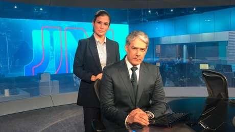 Renata Vasconcellos e William Bonner: o JN não poupa críticas a Bolsonaro e passou a mostrar menos a imagem dele