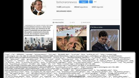 Código fonte mostra e-mail de Tercio Arnaud Tomaz ligado a página Bolsonaro Newsss no Instagram