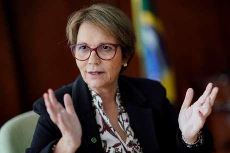 Tereza Cristina durante entrevista à Reuters em Brasília  18/1/2019 REUTERS/Ueslei Marcelino