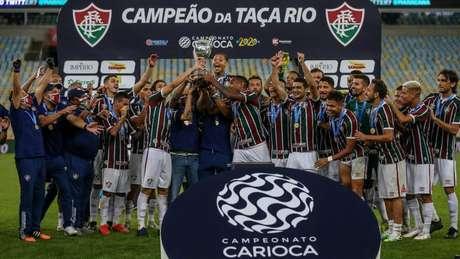 Fluminense levantou o título da Taça Rio (FOTO: LUCAS MERÇON / FLUMINENSE F.C.)