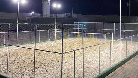 Mirassol construiu nova quadra de futevôlei para os atletas durante a quarentena