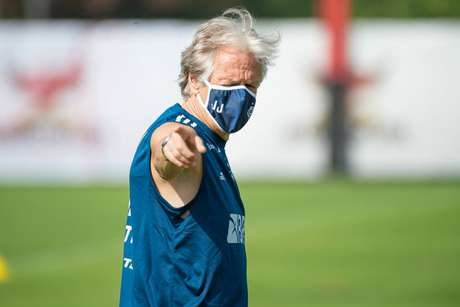 O técnico Jorge Jesus tem trajetória de sucesso no comando do Flamengo (Foto: Alexandre Vidal/Flamengo)