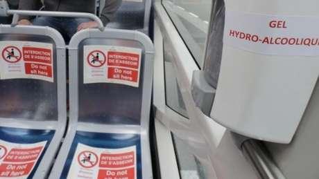 Uso de máscara é obrigatório em transporte público da França