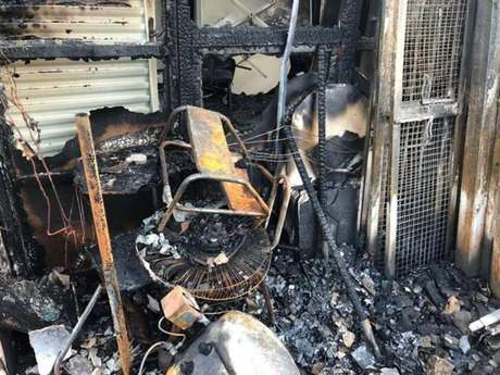 Incêndio destruiu dois mil testes rápidos para coronavírus em Botucatu, no interior de São Paulo.