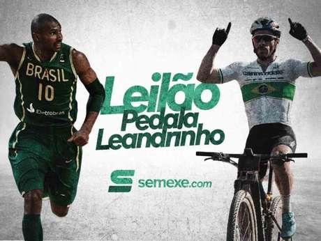 Leandrinho fez tour de bike até o Santuário de Nossa Senhora Aparecida (Foto: Divulgação)