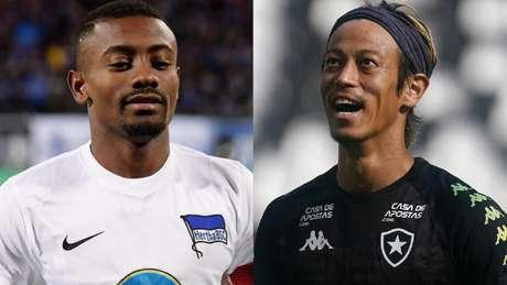 Kalou e Honda serão companheiros no Botafogo (AFP; Vitor Silva/Botafogo)