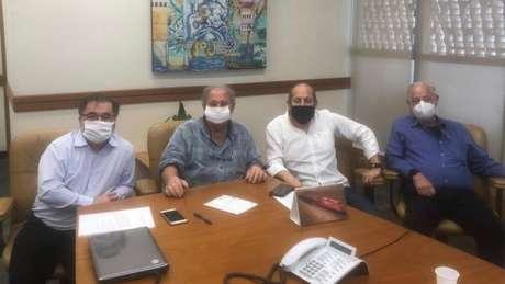 Marco Aurélio Cunha, Fernando Casal de Rey (ex-presidente), Roberto Natel e Sylvio de Barros - FOTO: Divulgação