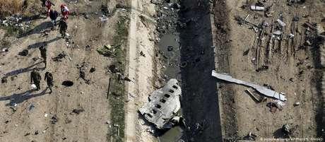 Avião de companhia aérea ucraniana caiu em 8 de janeiro após decolar do aeroporto de Teerã