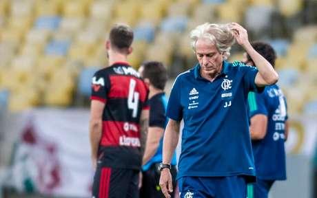 O técnico Jorge Jesus no comando do Flamengo (Foto: Marcelo Cortes / Flamengo)