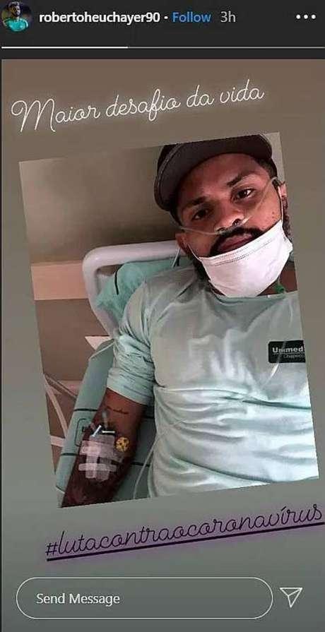 Roberto,da Chapecoense, é internado com covid-19: 'Maior desafio da vida'