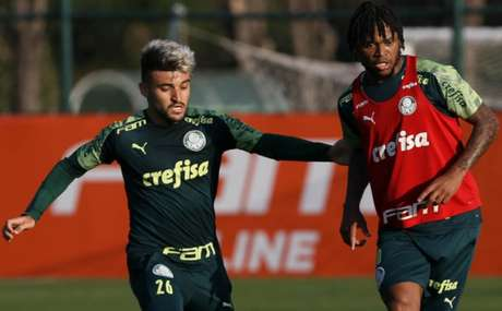 Contato entre os jogadores dentro de campo passou a ser maior na semana passada (Cesar Greco/Agência Palmeiras)