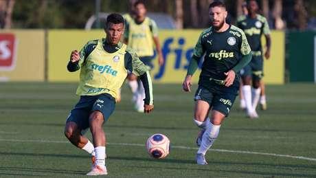 Palmeiras realizou treinamentos técnicos e físicos na reapresentação desta segunda (Cesar Greco/Agência Palmeiras)