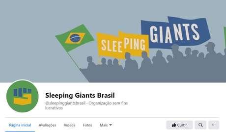 Sleeping Giants Brasil denuncia site de fake news
