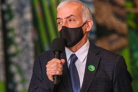 Paulo Menezes, chefe do Centro de Contingência contra a Covid-19 de São Paulo, em entrevista coletiva no Palácio dos Bandeirantes