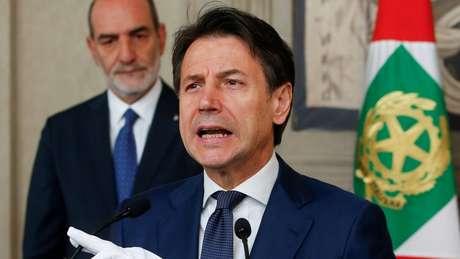 O primeiro-ministro Giuseppe Conte foi ouvido pelo Ministério Público de Bergamo sobre as ações tomadas durante a pandemia