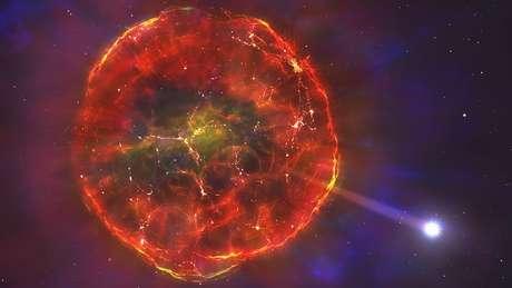 Astrônomos acreditam que estrela passou por uma supernova 'parcial'