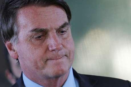 Bolsonaro, após reunião no Ministério da Defesa  29/5/2020 REUTERS/Adriano Machado
