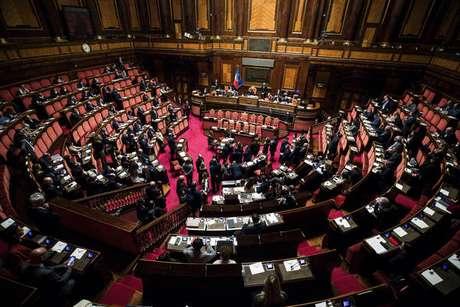 Plenário do Senado da Itália, em Roma