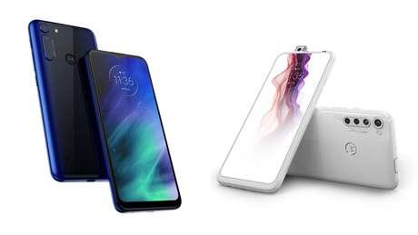 Os dois novos aparelhos da Motorola: One Fusion (à esq.) e o One Fusion+ (à dir.)