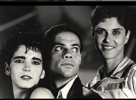 Vera Mossa, ao lado de Malu Mader e Diogo Vilela, durante as filmagens de Rock Estrela