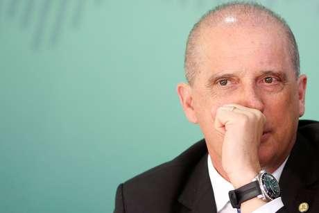 Ministro Onyx Lorenzoni, durante entrevista em Brasília  16/4/2019 REUTERS/Adriano Machado