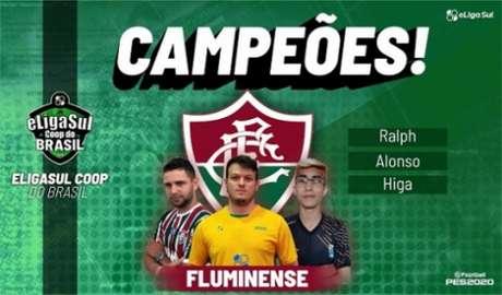 Trio que representou o Fluminense ficou com o título