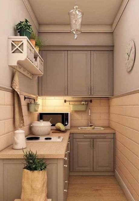 19. Armário de cozinha pequeno de canto – Via: Ideas Decor