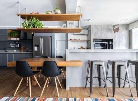 31. Capriche na decoração da sua cozinha moderna – Via: Pinterest