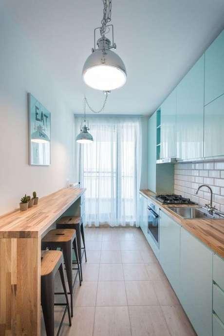 57. Cozinha pequena e prática – Via: Arkpad