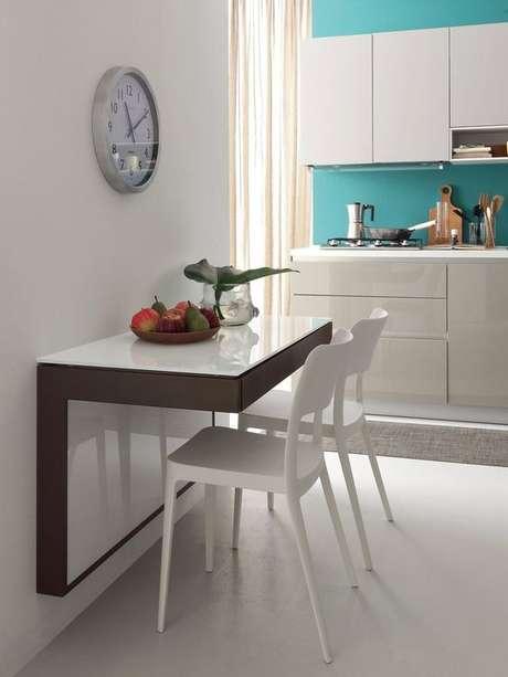 76. Aposte na mesa para cozinha pequena dobrável para ter praticidade – Via: Archi Products