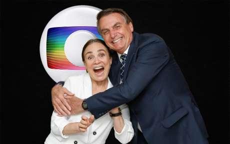 Regina Duarte passou a ser 'escondida' pela Globo depois de fortalecer laços com o presidente Bolsonaro