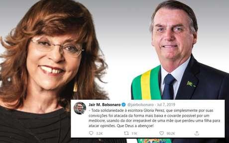 Eleitora de Bolsonaro, Gloria Perez foi defendida pelo presidente no Twitter