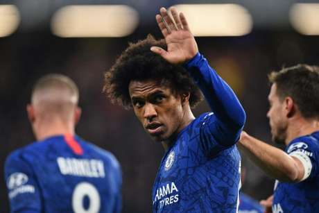 Willian faz grande temporada com a camisa do Chelsea (Foto: AFP)
