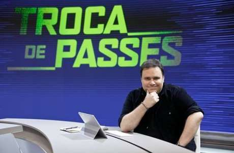 Rodrigo Rodrigues costuma apresentar o programa Troca de Passes, após os jogos da rodada