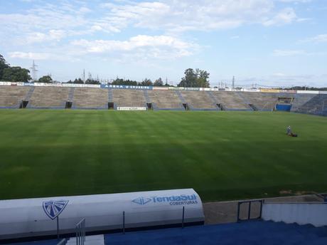 Inter pode sediar duelo contra Aimoré no estádio do Cruzeiro-RS (Foto: Divulgação/Cruzeiro-RS)