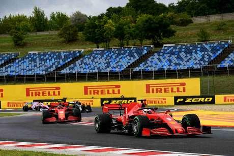 Sebastian Vettel não deixou a Ferrari comprometer sua corrida na Hungria