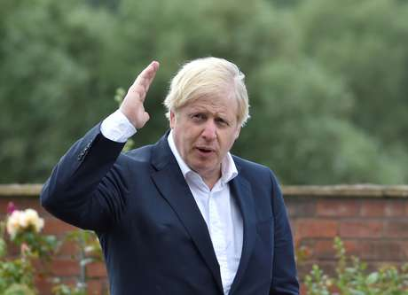 Primeiro-ministro do Reino Unido, Boris Johnson, em Beeston 28/07/2020 Rui Vieira/Pool via REUTERS