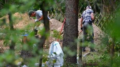 Promotores alemães disseram que busca em terreno perto de Hannover está relacionada à investigação de Christian B