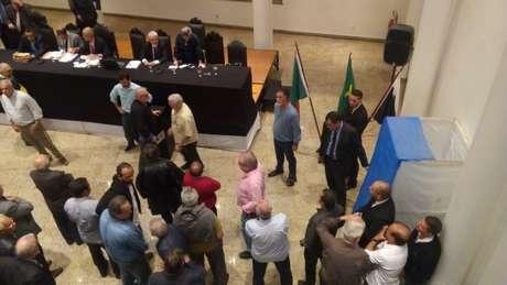 Reunião do Deliberativo não foi como a da foto, presencial, pela primeira vez (Foto: Felippe Rocha/ Lancepress!)