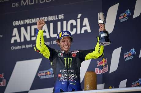 Valentino Rossi fechou um pódio dominado pela Yamaha