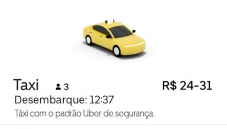 Uber Taxi também vai estar disponível no serviço Uber para Empresas