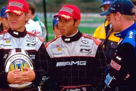 Rosberg e Hamilton conversam nos tempos de kart