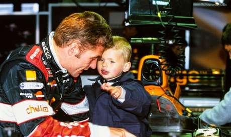 Jos Verstappen com o filho Max na Arrows