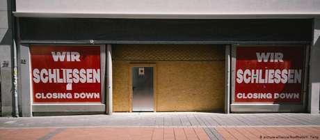 Loja fechada na cidade de Bonn, no oeste da Alemanha