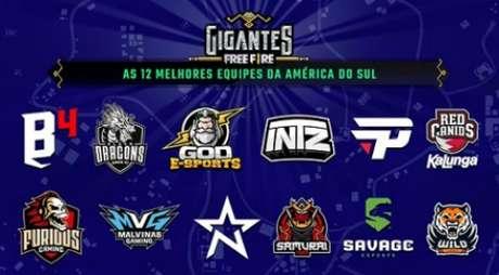 As 12 melhores equipes da América do Sul que irão participar do torneio