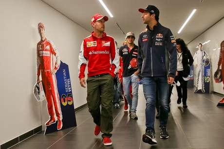 Sebastian Vettel e Daniel Ricciardo foram companheiros por uma só temporada