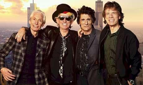Os Rolling Stones, que assinaram a carta  