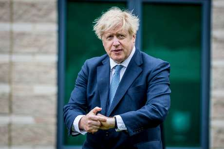Premiê britânico, Boris Johnson, em Northallerton 30/07/2020 Charlotte Graham/Pool via REUTERS