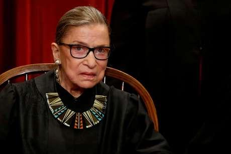 Juíza da suprema corte dos EUA Ruth Bader Ginsburg. 1/6/2017. REUTERS/Jonathan Ernst