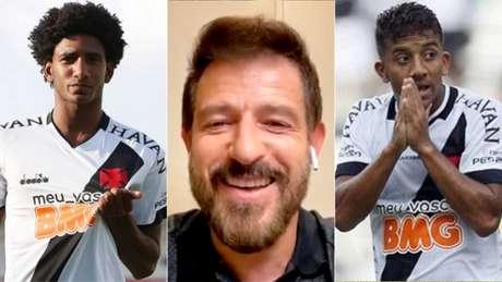 Talles virou destaque, Ramon foi efetivado e Vinícius ganhou espaço (Foto: Rafael Ribeiro/Vasco; Reprodução/LANCE!)
